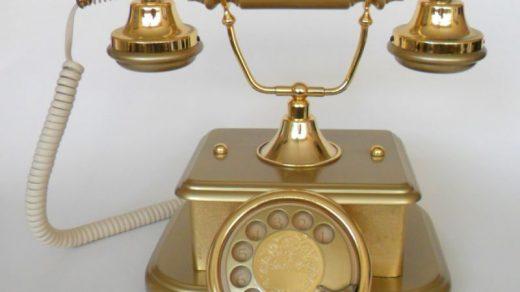 klasik telefon dekorasyon