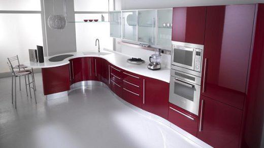 Mutfak dekorasyonunda kırmızı